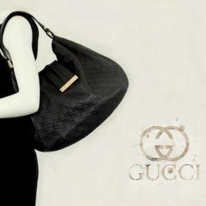 Large Gucci Guccissima Web Hobo Bag!